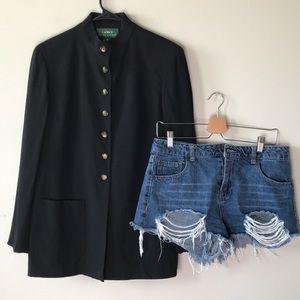 Vintage 1990's Ralph Lauren Mandarin Collar Blazer